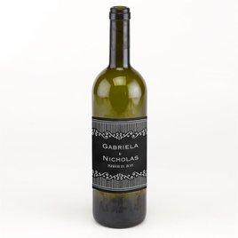 Wedding Favors: Chalkboard Sketch Wine Bottle Label