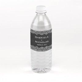 Wedding Favors: Chalkboard Sketch Water Bottle Label