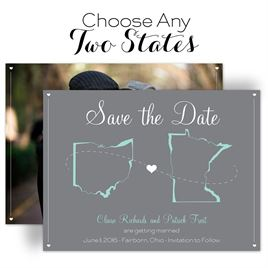 Save The Dates: State Your Love Save the Date Card