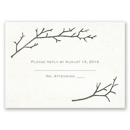 Wedding Response Cards: Beneath the Branches Response Card
