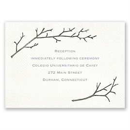 Wedding Reception and Information Cards: Beneath the Branches Reception Card