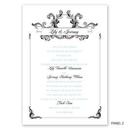 Victorian Flourish - Trifold Invitation