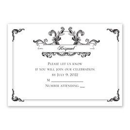Wedding Response Cards: Victorian Flourish Response Card