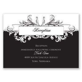 Wedding Reception and Information Cards: Victorian Flourish Reception Card