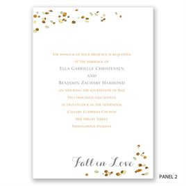Fall in Love - Trifold Invitation
