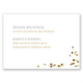 Wedding Reception and Information Cards: Fall in Love Reception Card