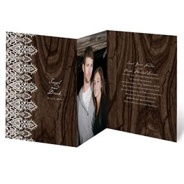 Romantic Finish - Trifold Invitation