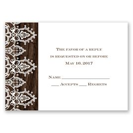 Wedding Response Cards: Romantic Finish Response Card