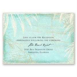 Wedding Reception and Information Cards: Island Cartography Reception Card