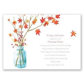 Autumn Arrangement - Invitation