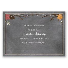 Wedding Reception and Information Cards: Chalkboard Autumn - Reception Card