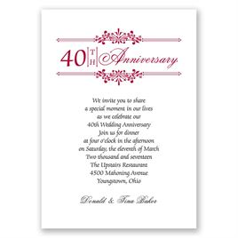 Simply Beautiful - Anniversary Invitation