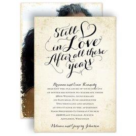 Vintage: Still In Love Anniversary Invitation