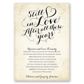 Still In Love - Anniversary Invitation