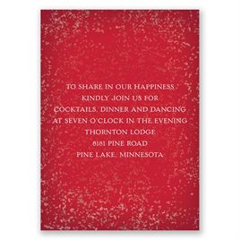 Snowy Pines - Barn Red - Reception Card