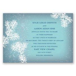 Snowy Pines - Fountain - Invitation