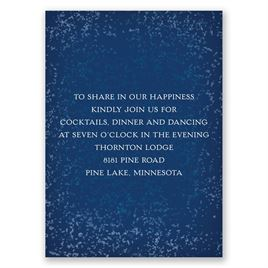 Snowy Pines - Navy - Reception Card