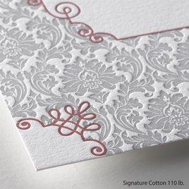 Beautifully Vintage - Letterpress Invitation