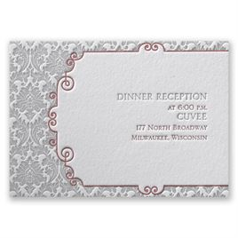 Wedding Reception and Information Cards: Beautifully Vintage Letterpress Reception Card