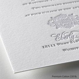 Timeless Elegance - Letterpress Invitation