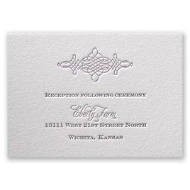 Wedding Reception and Information Cards: Timeless Elegance Letterpress Reception Card