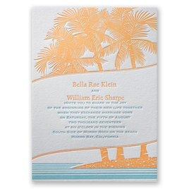 Tropical Escape - Letterpress Invitation