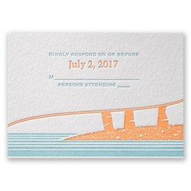 Wedding Response Cards: Tropical Escape Letterpress Response Card