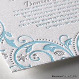 Winter Whimsy - Letterpress Invitation
