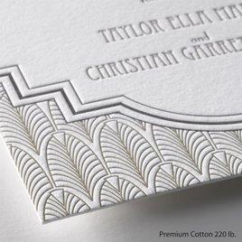 Art Deco Frame - Letterpress Invitation