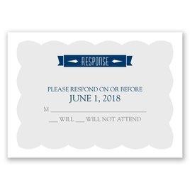 Wedding Response Cards: No Regrets Response Card