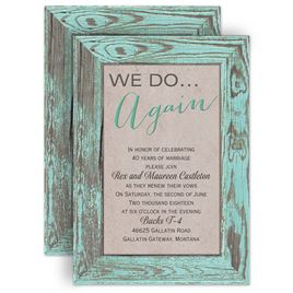 Autumn/Fall: Tried and True - Vow Renewal Invitation