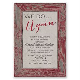 Tried and True - Barn Red - Vow Renewal Invitation