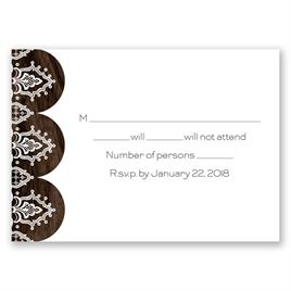 Wedding Response Cards: Love and Lace Response Card