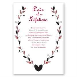 Love of a Lifetime - Vow Renewal Invitation
