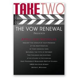 Take Two - Vow Renewal Invitation