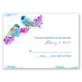 Wedding Response Cards: Watercolor Pair Response Card