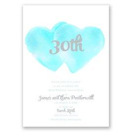 Two Hearts - Surf - Anniversary Invitation