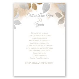Years Go By - Latte - Anniversary Invitation