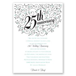 Forever Filigree - 25th Anniversary Invitation