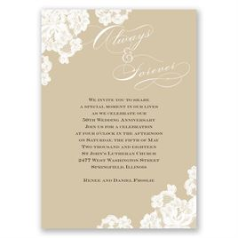 Vintage: Forever Lace Anniversary Invitation