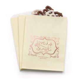 Love is Sweet - Ecru - Favor Bags