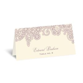 Wedding Table Decorations: Lacy Corners - Escort Card