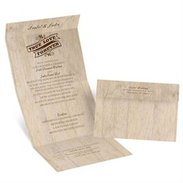 Choose Your Design - Rustic - Seal and Send Invitation