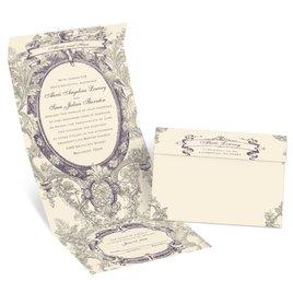 Vintage Cherub  - Ecru - Seal and Send Invitation
