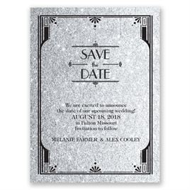 Save The Dates: Glamorous - Faux Glitter - Save the Date Card