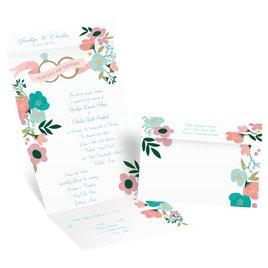 Retro Floral - Seal and Send Invitation