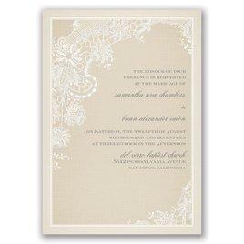 Subtle Elegance - Real Glitter Invitation