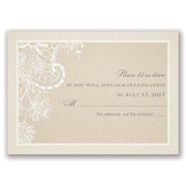 Wedding Response Cards: Subtle Elegance Real Glitter Response Card