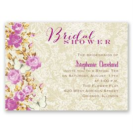 English Garden - Mini Bridal Shower Invitation