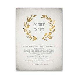 Leaves of Gold - Petite Rehearsal Dinner Invitation